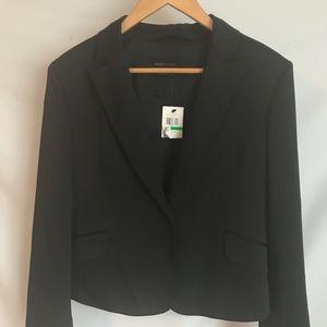 New BCBG women black satin jacket size L